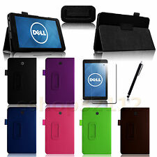 Folio Slim Fit PU Leather Case Cover for DELL Venue 8 Android Tablet +Pen+Film