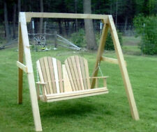 Amish Made Cedar 4'  Fanback Swing - A-Frame Combo