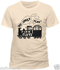 Pink Floyd See Emily Play T Shirt Official Off White Cream Unbleached Cotton XL