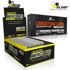 ANABOLIC AMINO ACIDS + CREATINE MONOHYDRATE 60-180 Caps. BCAA Muscle Growth Gain