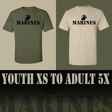 MARINES T-SHIRT **** Youth XS to Adult 5X **** Two Shirt Colors Available