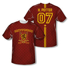 Harry Potter 07 Gryffindor Quidditch Allover Print Adult T-shirt