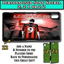 PERSONALISED UNOFFICIAL AC MILAN SONY XPERIA Z, Z 1, Z 2 HARD CASE