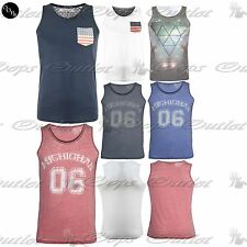 Mens Summer Designer Casual Brave Soul Sleeveless Muscle Vest T Shirt Tank Top
