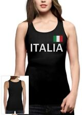 Italy Soccer Women Tank Top National Soccer Team Italia Flag World Cup 2014