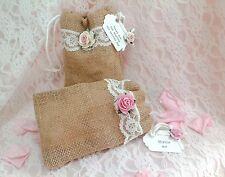 Vintage Wedding Confetti Bags with Pretty Personalised Tag with/without confetti