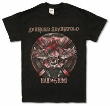 "AVENGED SEVENFOLD ""BATTLE ARMOR 2014 TOUR"" (BC-OH) BLK T-SHIRT NEW OFFICIAL A7X"