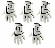 5 MENS 100% CABRETTA LEATHER GOLF GLOVES