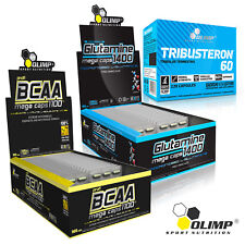 BCAA + L-Glutamine + Test Stack 45-180 Tablets Testosterone Support Muscle Gain