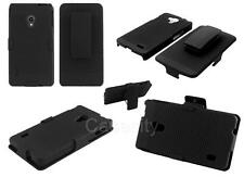 BLACK RIPPLE HARD PLASTIC SLIDE IN COVER & HOLSTER CASE FOR VARIOUS PHONE MODELS