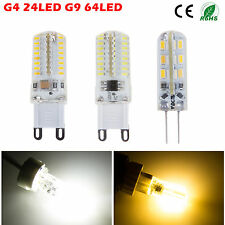 G4 G9 3W/5W SMD 3014 24/64 LED Light Corn Bulb Lamp Power Saving Warm/Cool White