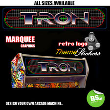 Arcade Marquee Stickers / Laminated All Sizes All Designs Tron,Zaxxon + More