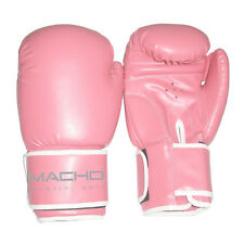 Pink Womens Boxing Gloves Kickboxing Training Fitness Workout Ladies Girls