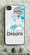 Monogrammed iPhone 5 case lovely air balloons personalized cover iPhone 4 MG-050