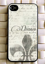 Monogrammed iPhone 5 case royal lily personalized cover iPhone 4 MG-020