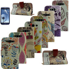 Colorful Flip PU Leather Wallet Stand Case Cover for Samsung Galaxy S3 III i9300
