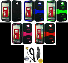 LG Optimus L90 / D415 (T-Mobile) Phone Cover PRO ARMOR U-Case + CAR CHARGER