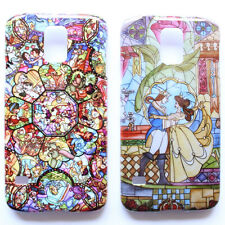 Disney Princess Beauty and the Beast Stained Pattern Galaxy S5 i9600 Case Cover