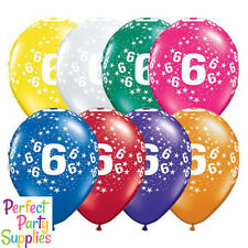 6th Birthday Star 1x28cm Balloon Party Supplies Decorations Red Purple Yellow