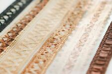Neotrims Texture Ribbons Earthly Natural Colours,CrochetLook,FauxLeather,Satin