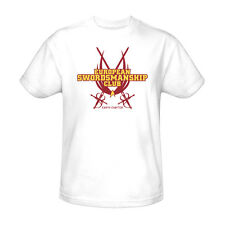 Star Trek Swordsmanship Club T-Shirt Adult Men White S M L XL 2X 3X