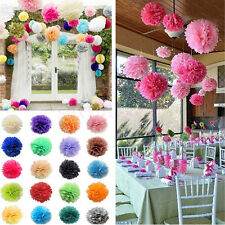 5PC Tissue Paper Pom-Poms Flower Wedding Party Home Outdoor Decor 15CM 20CM 25CM