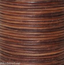 Red Brown - Natural Dye Round Leather Cord - BEST VALUE!