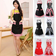 Nice Cute Vintage Flirty Womens Bowknot Kitchen Bib Apron Dress with Pocket