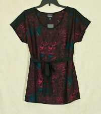 Oh Baby by Motherhood Floral Pattern Maternity Top w/Sash - Maternity Sizes -NWT