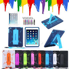 3 in 1 Hybrid Survivor Heavy Duty ShockProof Hard Case + Rubber Cover For iPad