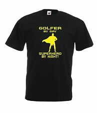 GOLFER SUPERHERO funny sport game bat man NEW Top Boys Girls T SHIRT 1-15 Years
