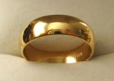 6 mm GENUINE 18K 18ct SOLID GOLD WEDDING BAND RING Size  N/7 to Z+2/14