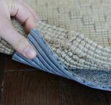 """Eco Fiber Touch Non Slip Rug Pad - ROUND SIZES - 1/4"""" Thick SAFE for floors"""