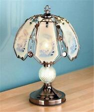 OUTDOORS INSPIRED WILDLIFE TOUCH TABLE ACCENT LAMP METAL GLASS SHADES-3 DESIGNS
