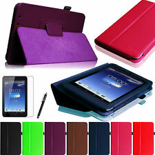 "ASUS MeMO Pad HD ME173X 7"" 7 inch Android Tablet Stand Folio Case Cover + Film"