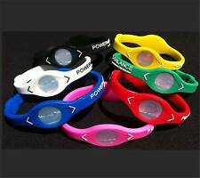 Power Balance Silicone Wristband Sizes Small, Medium & Large various colours