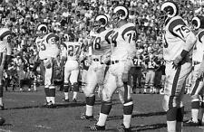 Fearsome Foursome Los Angeles Rams Game Action Football 8X10Photo