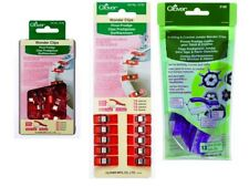 Clover Wonder Clips Packs Bind Quilt Sewing SELECT JUMBO, 10 OR 50 PIECE SET!