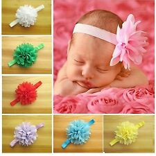 Baby Girls Flower Hairband Soft Elastic Headband Hair Accessories Hair Band New