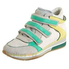 Women's Geox Thrill D3221A C1453 Sneakers Velcro Suede Casual Shoes Green