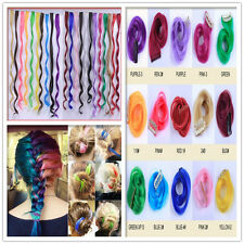Fashion Womens Girl's Gradient Colour Curly/Wavy Hairpiece Clip Hair Extensions
