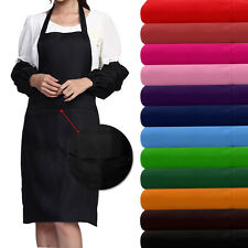 PLAIN APRON WITH FRONT POCKET FOR CHEFS BUTCHER KITCHEN COOKING CRAFT BAKING BBQ