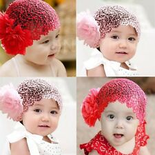 Elastic Cute Wide Hair Band Flowers Headwear Headband for Infant Baby Girls #H3