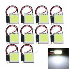 10pcs White 18 Chips COB LED Festoon Dome/Door Light Panel Interior Bulb J301