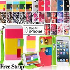 WALLET CARD SLOT LEATHER FLIP STAND CASE COVER IPHONE 4 4S IPHONE 5 5S IPHONE 5C