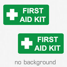 2 x First Aid Kit Sticker Decal Vinyl Die Cut Self Adhesive Emergency Rescue SOS