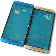 New Housing Front Frame bezel Cover For HTC One M7 801n 810e 801s Gold/Blue