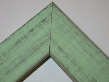 "1.5"" Country Mint Julip Green Rustic Distressed Weathered Picture Frame-Square"