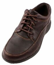 Rockport Encounter Mens Dark Brown Leather Walking Platform Sneakers