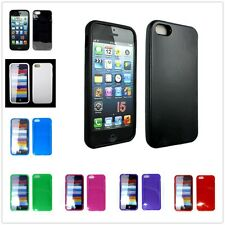 TPU Gel Rubber Matte Skin Case Cover For Apple iPhone 5 5S 5G Screen Protector